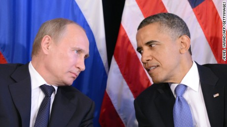 Tense moments between Obama and Putin