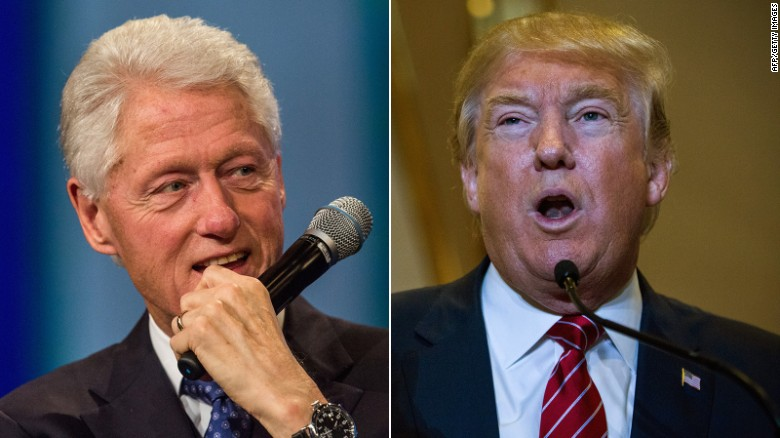 Donald Trump attacks Bill Clinton's past infidelity