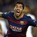 luis suarez celebrates goal