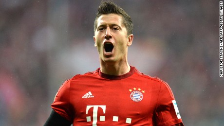 Robert Lewandowski's 2015/16 goals