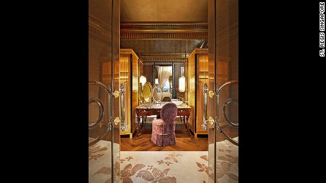 This is just the dressing room of the St. Regis Presidential Suite.