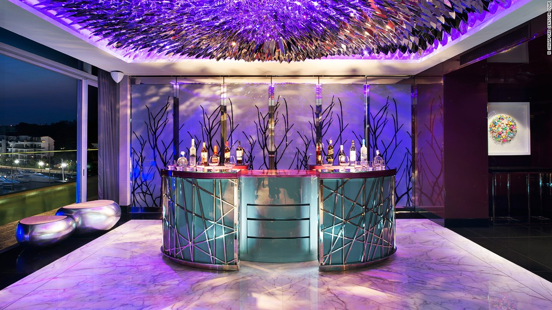 The vibe is nightclub meets playboy crash pad at W Sentosa's Extreme Wow Suite. <br />