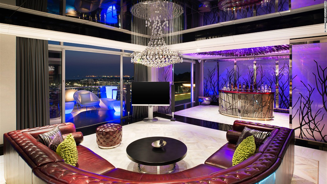 Marble and purple are all the rage in W Sentosa's Extreme Wow Suite, where everything from the lighting to the DJ booth is designed to make the ultimate statement. There's also a pretty gorgeous marina view for anyone who can tear their eyes away from the interiors.