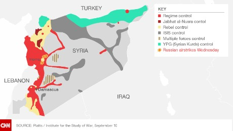 Russia says it launched airstrikes against ISIS, but some say the areas hit weren't ISIS strongholds.