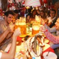 Bayern Munic players at Oktoberfest