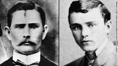 The outlaw Jesse James, left, was fatally shot in 1882 by Robert Ford, a member of his gang.