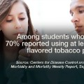 new studies results are in teen flavored tobacoo