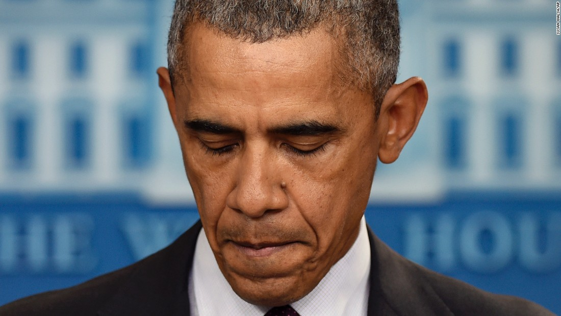 """In response to the shooting on October 1, President Barack Obama delivers the 15th statement of his presidency addressing gun violence. """"Somehow this has become routine,"""" he said. """"The reporting is routine. My response here at this podium ends up being routine, the conversation in the aftermath of it. We've become numb to this."""""""