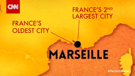 Map of Marseille, France.