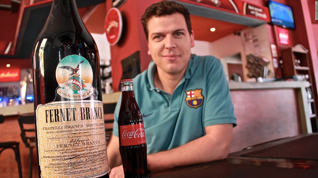 "Juan Chico is the manager of a bar in the upscale Palermo neighborhood in Buenos Aires. He sells an average of 70 glasses of Fernet a day. Even its fans describe the drink as ""disgusting."" Fernet is popularly mixed with Coca-Cola, contributing to Argentina's world-beating thirst for the soda."