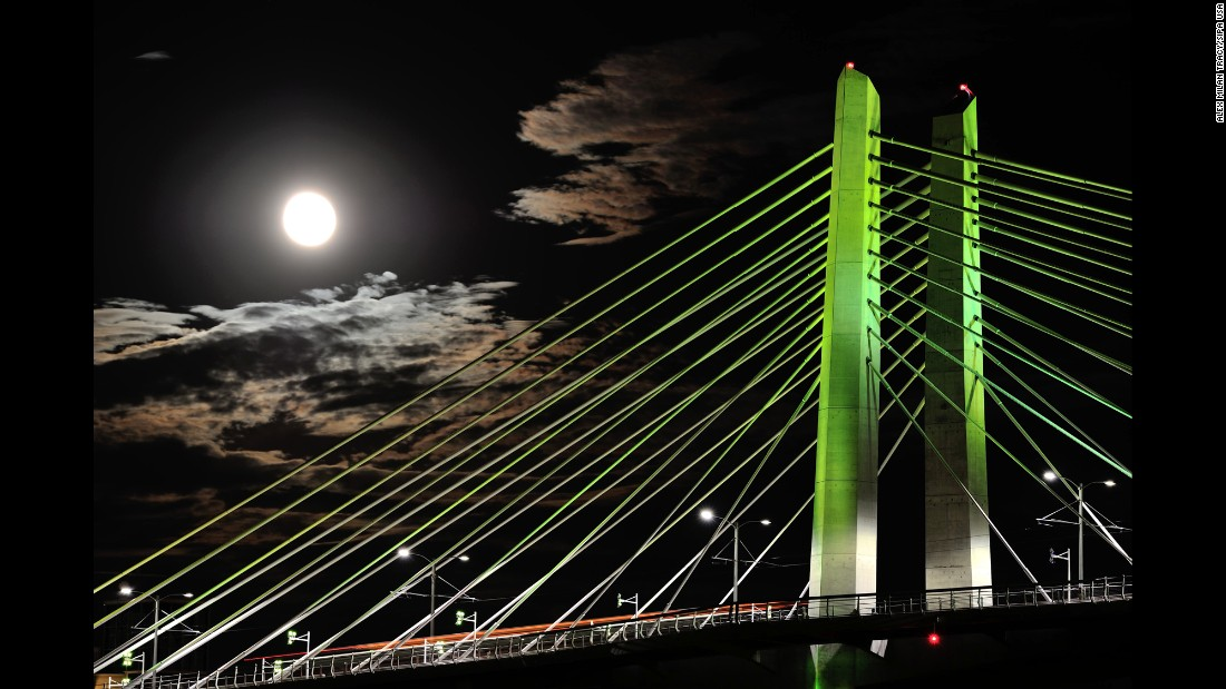 "Portland's new Tilikum Crossing bridge opened in early September. It's named after the Chinook word for ""people."""