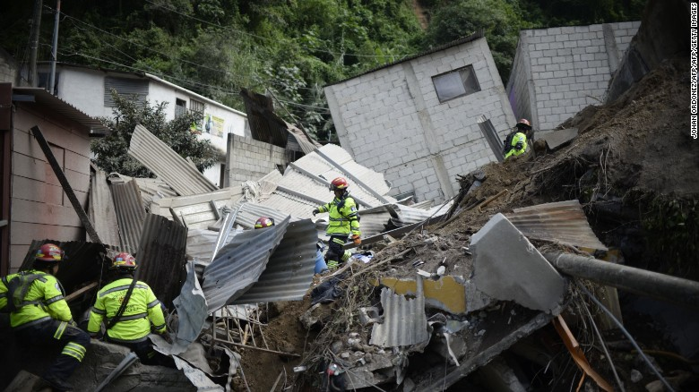 Hundreds missing in Guatemala landslide, authorities say