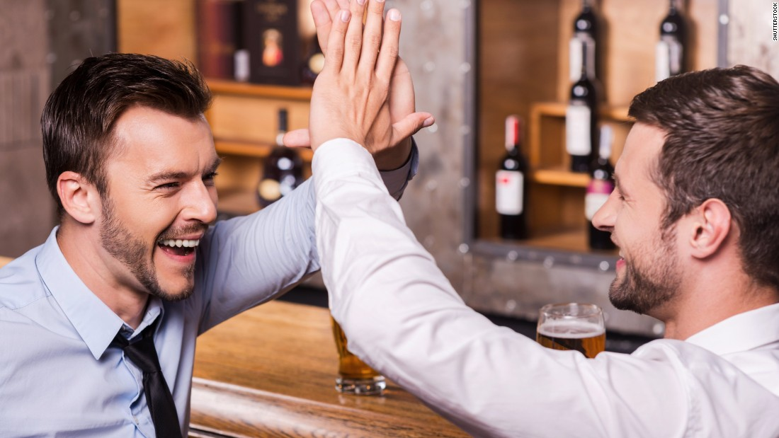 Some guests could do without the high-fiving of the business bar boozer.