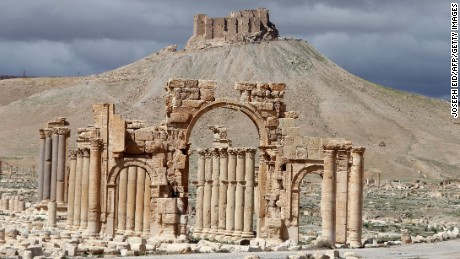 The Arch of Triumph in the ancient Syrian city of Palmyra was built 2,000 years ago.