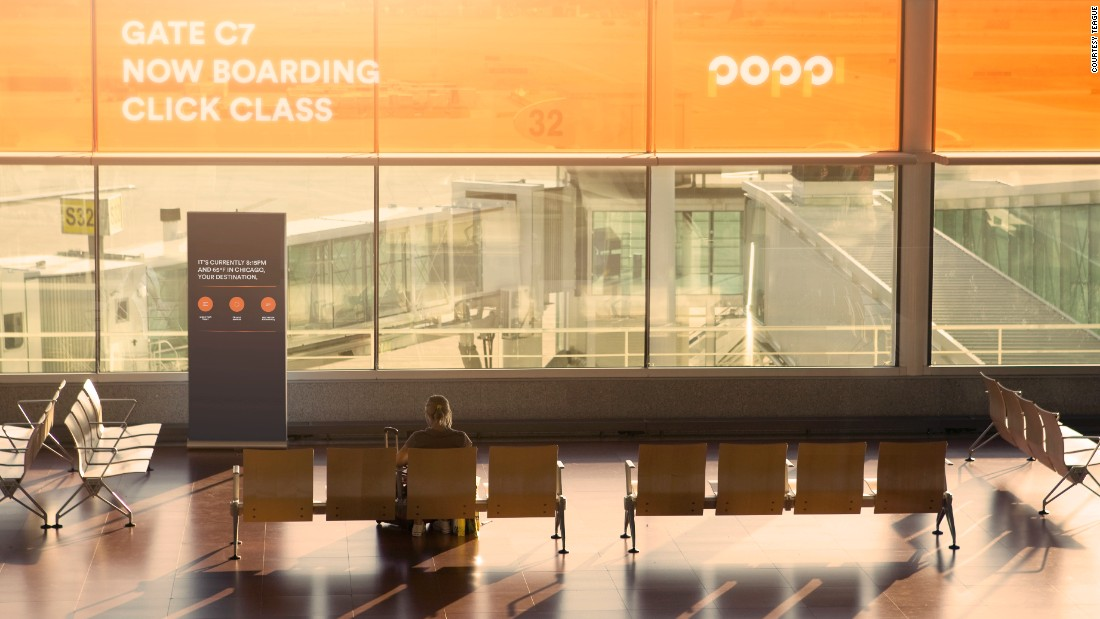 "Poppi attempts to address fliers dissatisfaction at the experience of waiting at the gate, and imagines a word where ""gate lurking"" is history. ""Re-thinking the gate also improves boarding time and the boarding experience overall for passengers and airline crew,"" says Teague."