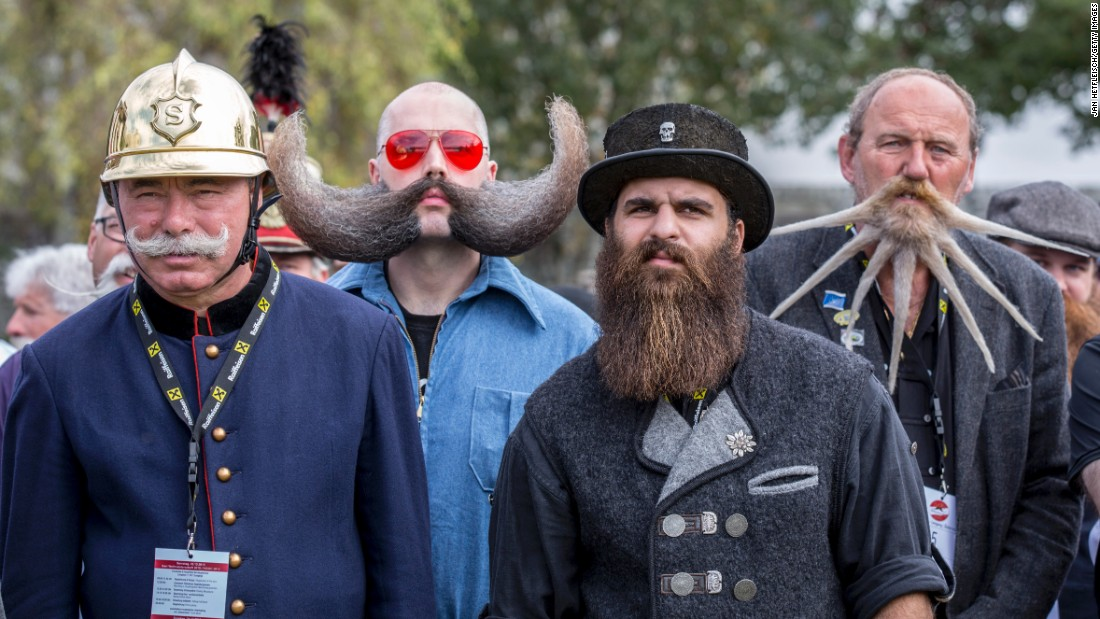 More than 300 contestants from across the globe competed in various categories involving three groups: moustache, partial beard and full beard.
