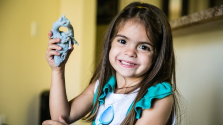 Doctors used a 3D printer to make a model of Mia Gonzalez's heart before surgery.