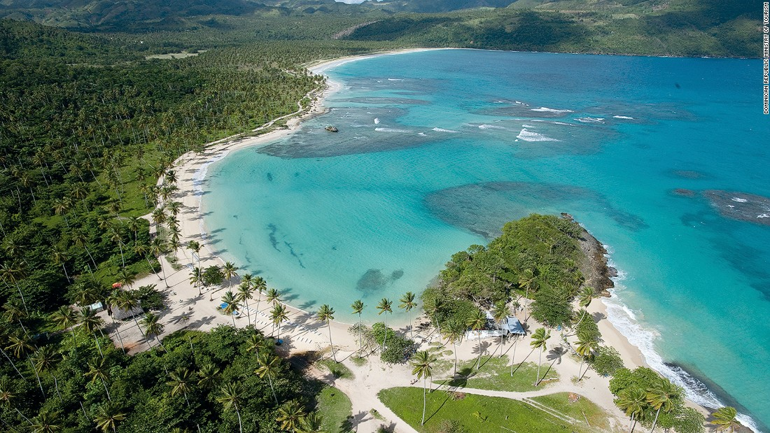 Playa Rincon is located about 15 miles from the port of Samana on the northeast coast. The secluded beach stretches for two miles with only a few restaurants and bars.