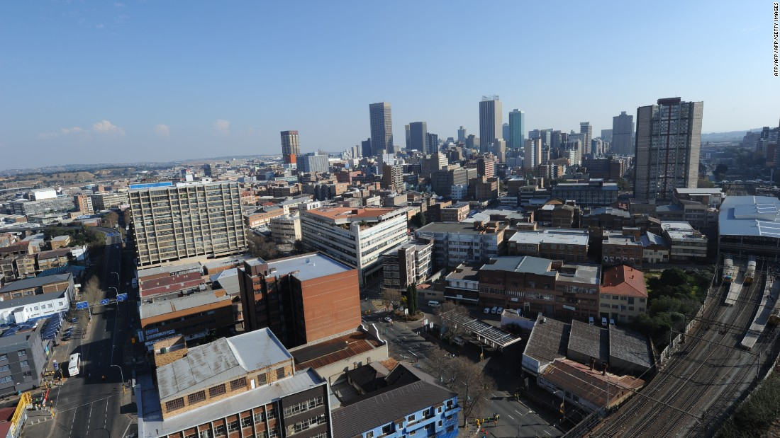 A view of Johannesburg's skyline. South Africa is one of the continent's most affluent countries and comes in 3rd place when it comes to charitable giving. In the global ranking it's number 34.