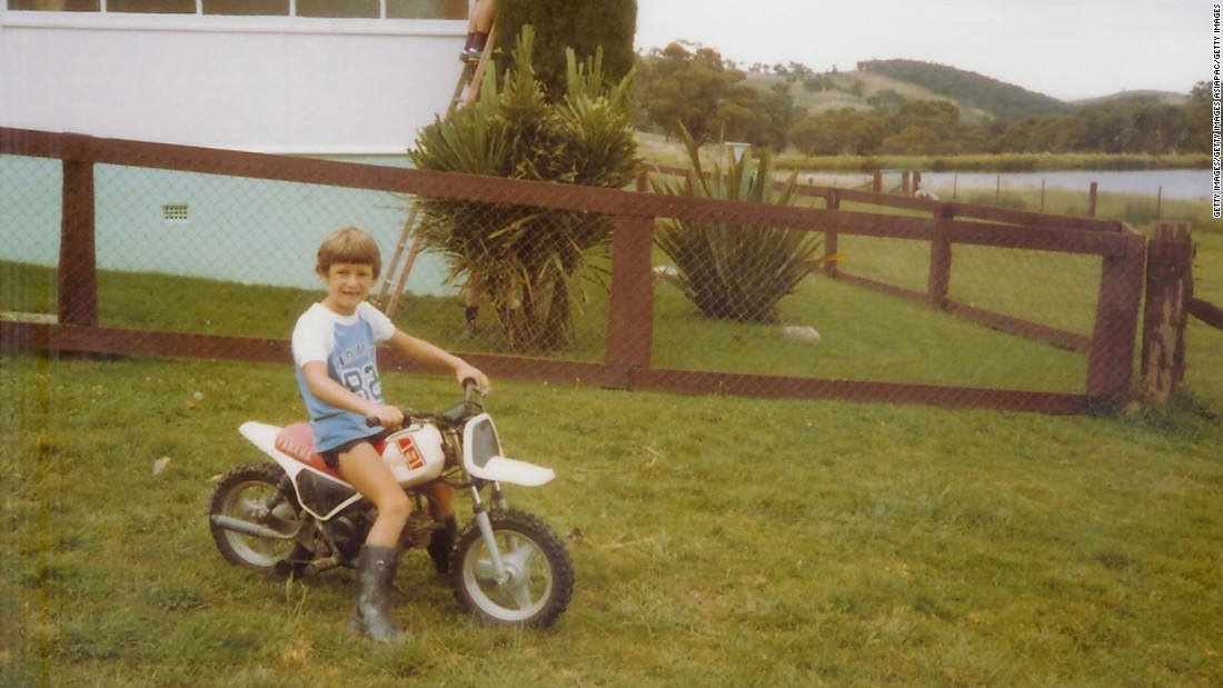 """I loved karting as a youngster,"" Mark Webber, seen here in 1984, tells CNN. ""I wanted to move up and drive something quicker and more challenging."" The Australian's childhood dreams led him to a career in Formula One."