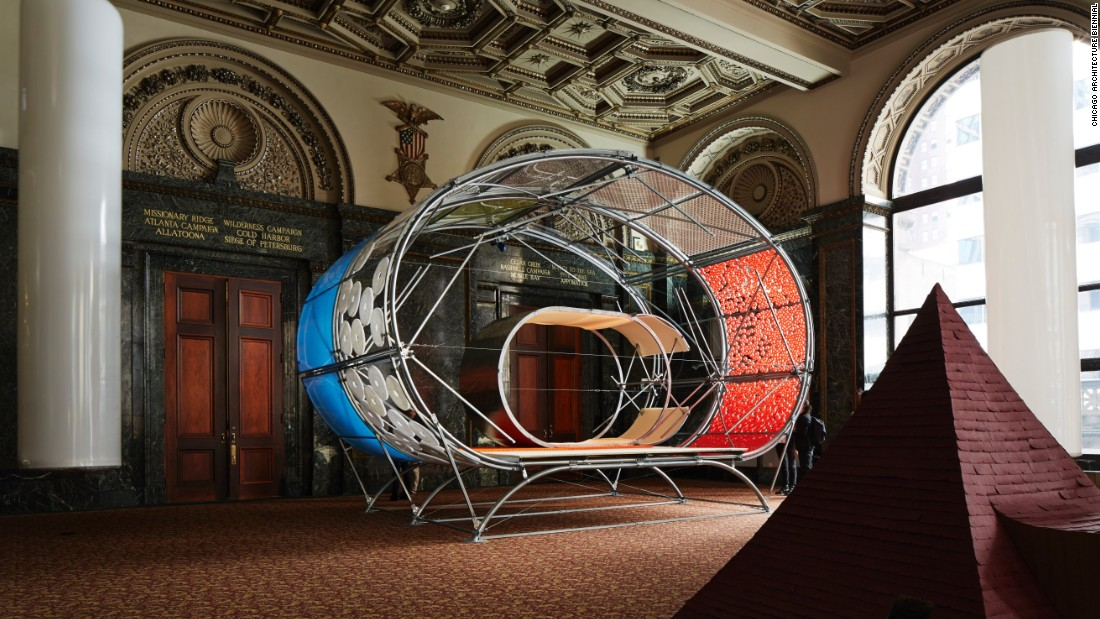 "A collaboration between Selgascano (from Madrid) and Helloeverything (from New York), the ""Casa A"" installation uses interchangeable panels that allow for it to be easily transported."