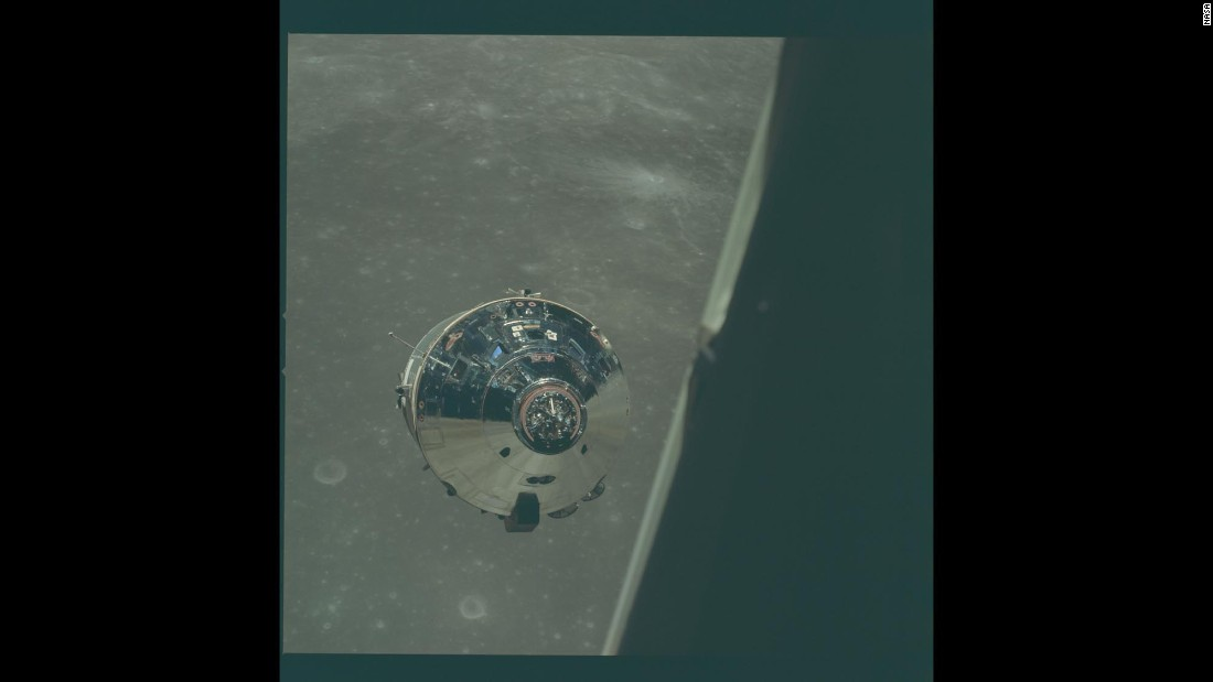"During Apollo 10, the lunar module was flown around the moon as a ""dress rehearsal"" for a later landing."