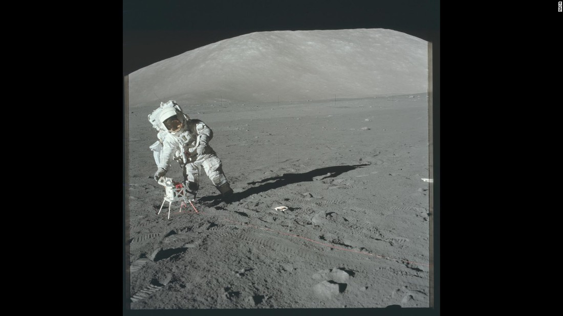 Apollo 17 was the last of the Apollo missions. Humans have not been to the moon since.