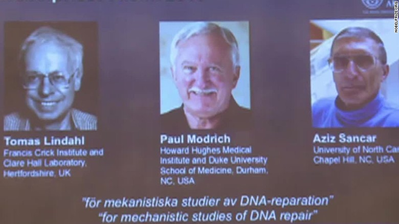 Nobel Prize for chemistry goes to ...