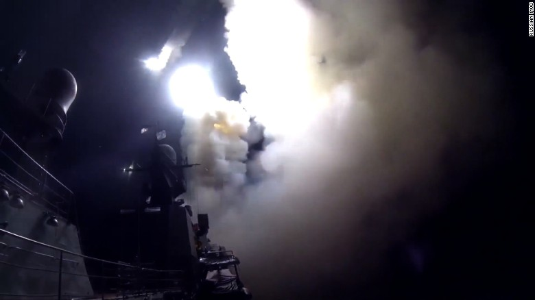 Russia fires missiles from warships into Syria