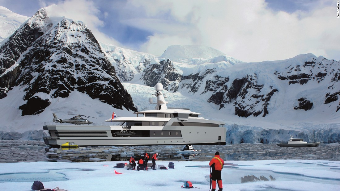 """People like to do new things, and one of those is to visit new places and do expeditions,"" Caminada says. ""A younger generation of superyacht owners, or potential owners, want to do things like go in a helicopter or go skiing, or look at marvelous wildlife. But until now, superyachts have not been capable of doing that. This is the first boat of its kind."""