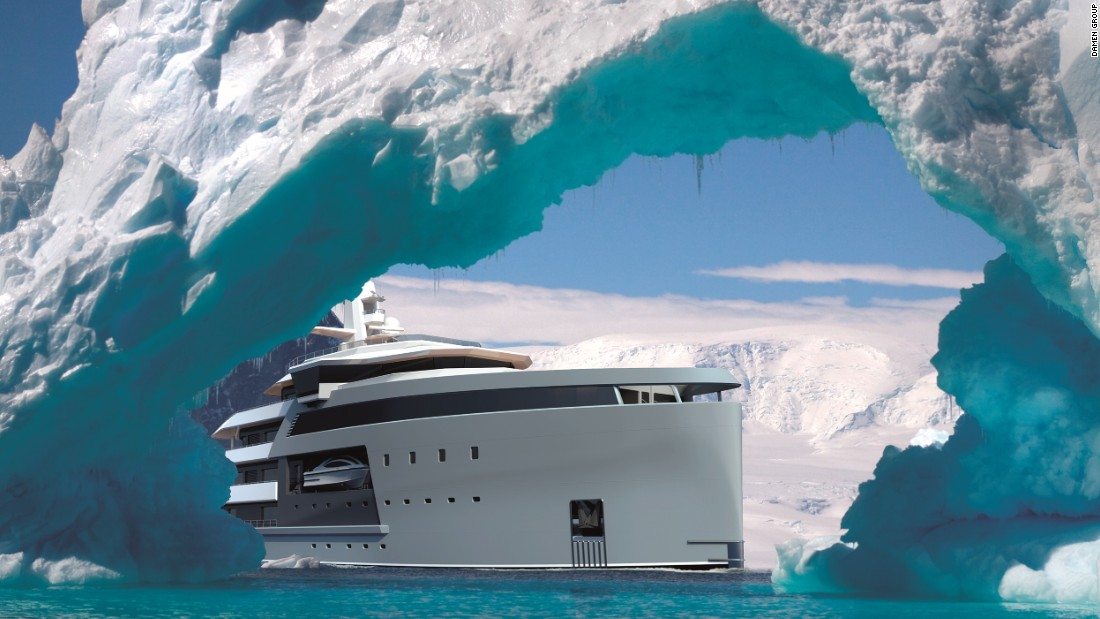 Billionaires who want to escape to the ends of the Earth would need a boat fit for an army; a warship that can sail the seven seas, and in style. Step forward, the SeaXplorer -- the toughest superyacht on the planet.<br />