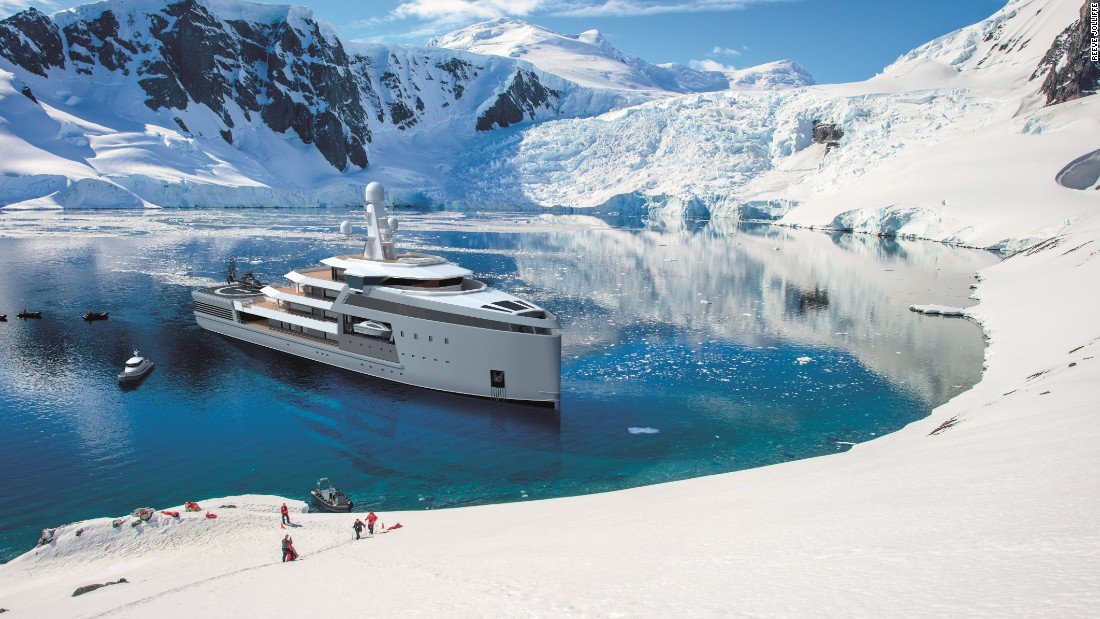 "It has been designed by Damen Group, one of the world's leading luxury shipbuilders, which also creates vessels fit for war. The Dutch firm hopes SeaXplorer will blur the lines between the two -- billing it as ""the first purpose-built, <a href=""https://www.imo.org/en/MediaCentre/HotTopics/polar/Pages/default.aspx"" target=""_blank"">Polar Code-compliant</a> range of expedition yachts, with true global capability -- from extreme polar to remote tropical areas."""