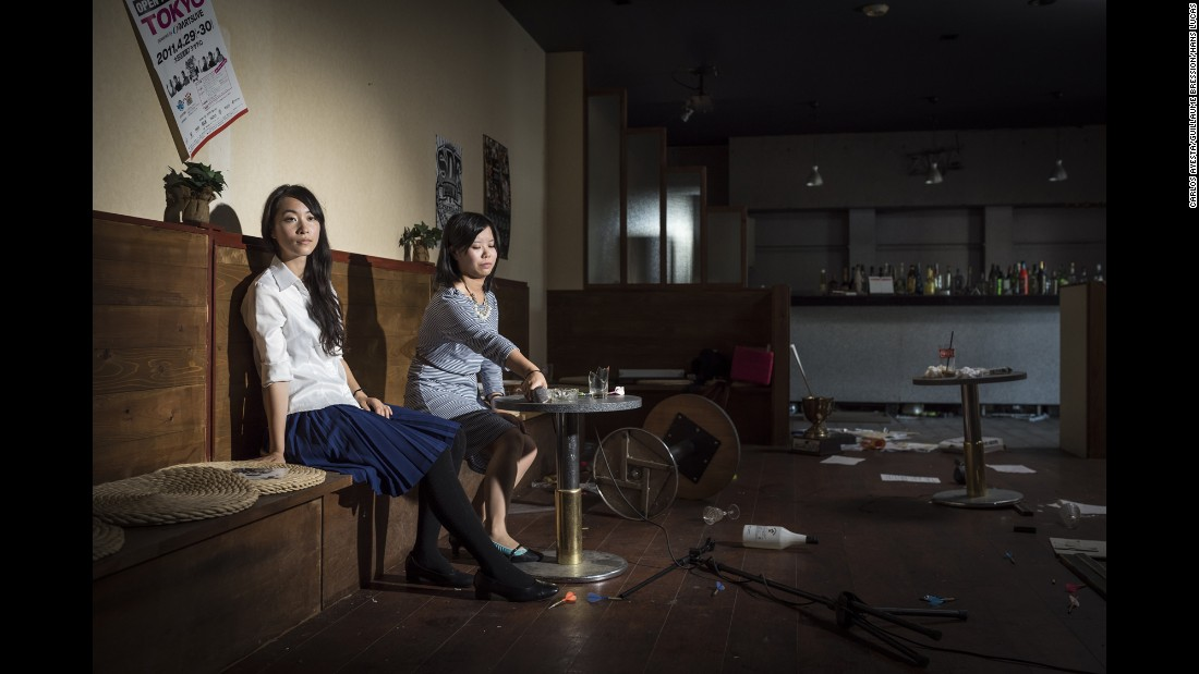Mikaze Risa Sato and Kumakura are staged in a karaoke bar in Namie. Natives of Koriyama, they had not visited the region since it was abandoned during the nuclear disaster.