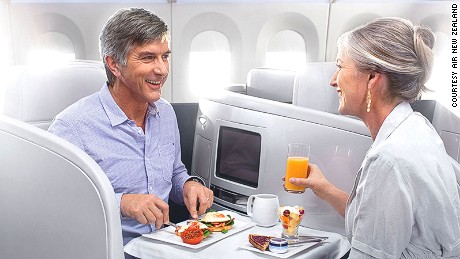 Breakfast of champions: Air New Zealand impressed across the board.