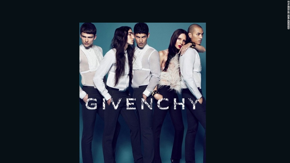 Givenchy became the first major fashion brand to turn the camera -- spotlight -- on a trans model. Lea T (second right), a close friend to the brand's creative director Riccardo Tisci, was shot by Mert & Marcus for the Fall-Winter 2015 campaign.