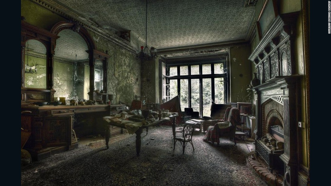 Unlike other photographers featured here, Bathory also stages photo shoots with models in abandoned buildings.<br /><em><br />Abandoned Victorian Manor</em>