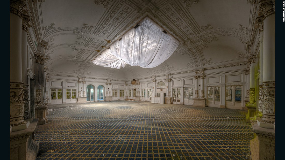 "Dutch photographer <a href=""http://www.nikifeijen.com/"" target=""_blank"">Niki Feijen</a> has been photographing desolate places -- from abandoned European castles to the Chernobyl Exclusion Zone in Ukraine -- since 2007. <br /><em><br />Dining room in an abandoned luxury hotel</em>"