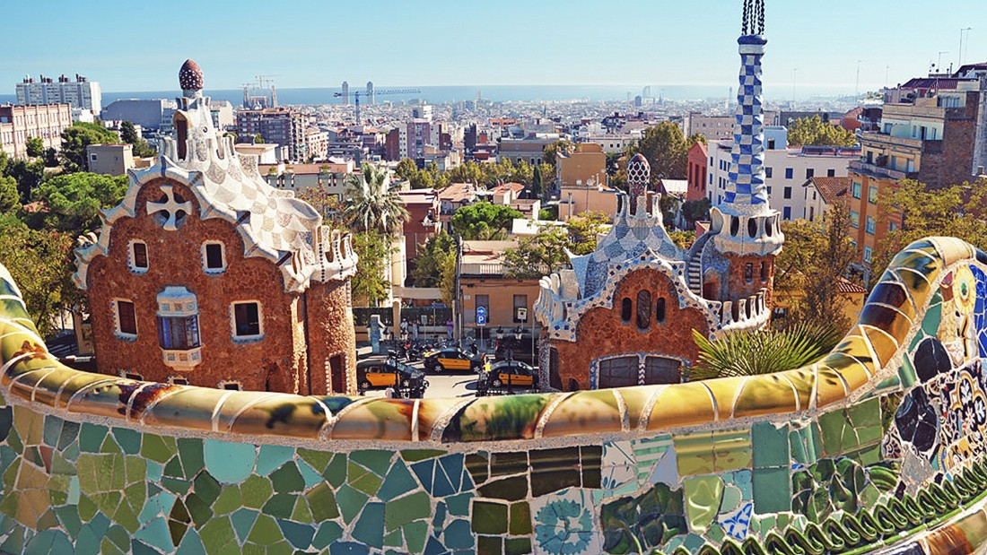 Spending on business travel in Spain went up 6.8% last year. With sites like Gaudi's Park Guell in Barcelona (pictured) it's not hard to see why visitors would want to stick around.
