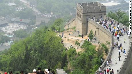 Great crowds at the Badaling Great Wall.
