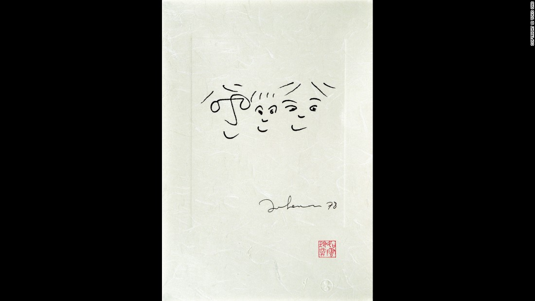 "Lennon titled this 1978 work ""A Happy Life."""