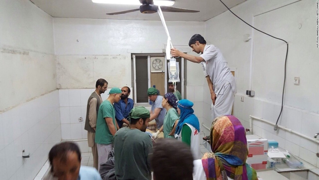 "Doctors Without Borders staff perform surgery after <a href=""http://www.cnn.com/2015/10/07/asia/doctors-without-borders-afghanistan-airstrike/"" target=""_blank"">a U.S. airstrike</a> hit the group's hospital in Kunduz, Afghanistan, on Saturday, October 3. The group says the strike an ""attack on the Geneva Conventions"" and urges an independent investigation by a never-before-used international commission."