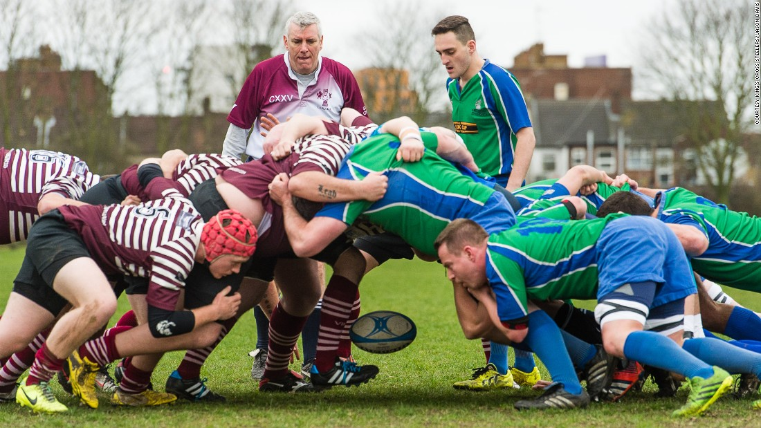 This year the world's first gay rugby club, the Kings Cross Steelers (pictured in blue and green), celebrates its 20th anniversary.
