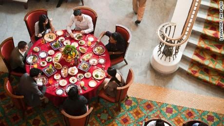 Prettiest tables outside of Vegas.