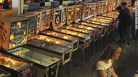 Games cost 25 cents for older machines, 50 cents for newer ones, per play.