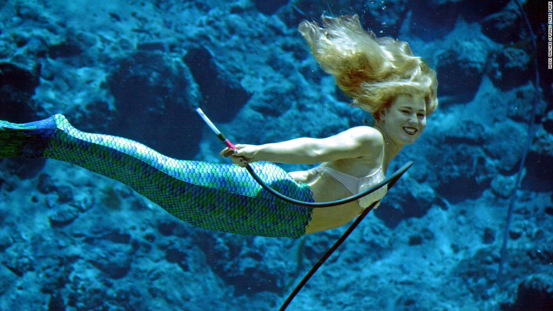 a mermaid performs at the world famous a hrefhttp