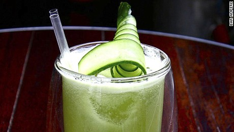 Get it Wright: Bombay Sapphire gin, yellow chartreuse, fresh lime, cucumber and apple juice.