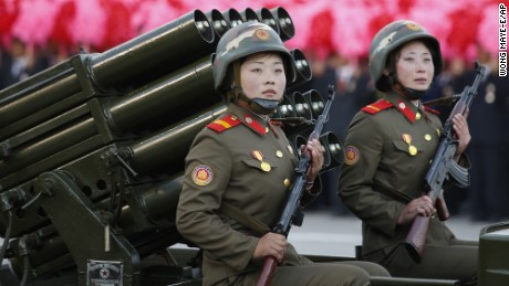 See photos of North Korea's military parade