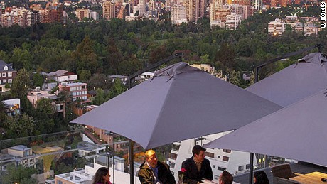 The W's rooftop dining area isn't an easy place to leave.