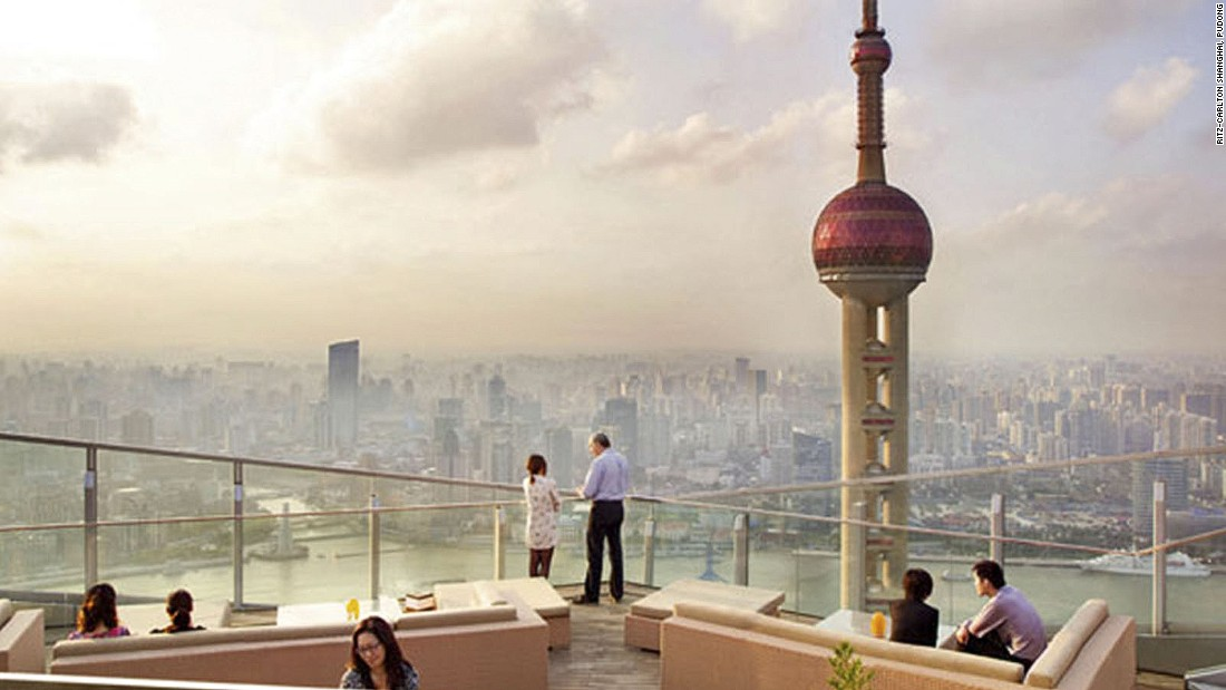 One of three Ritz-Carlton additions to the 2016 list, along with Toronto and Cancun, Shanghai's Ritz-Carlton is home to the city's highest bar terrace -- some 250 meters high.