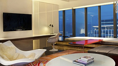 "The W's ""WOW"" suite living room."